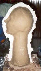 Mezzo busto stampo in gesso